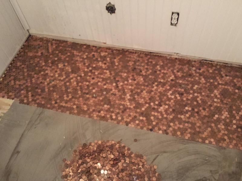 1 Pence Coin Floor