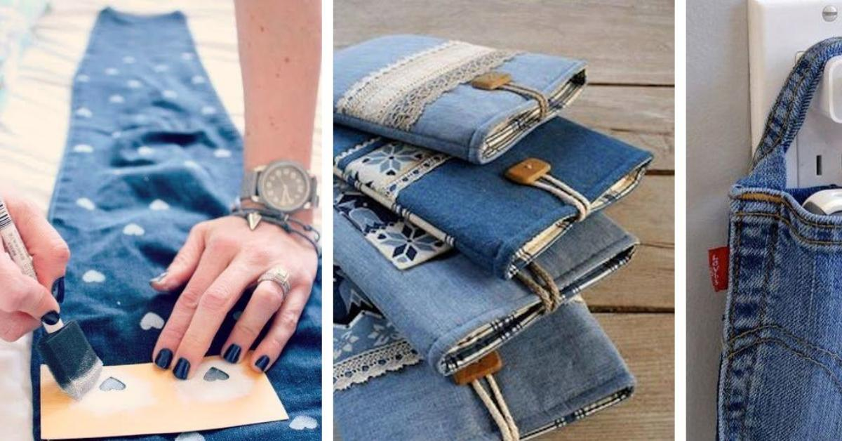 9 x upcycling f r jeans. Black Bedroom Furniture Sets. Home Design Ideas