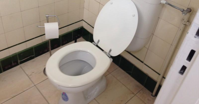 hinweis zur toilettenbenutzung