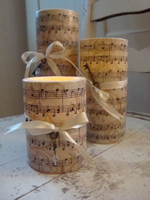 Musical Note Cake Candles