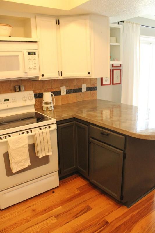 g nstiger beton trick bringt charakter in die k che. Black Bedroom Furniture Sets. Home Design Ideas