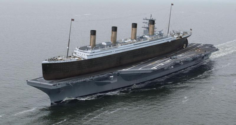 titanic vergleich mit heutigen schiffen
