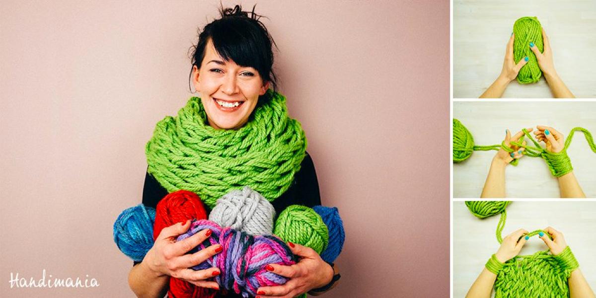 begrenzter Preis kinder wähle spätestens Trick um Schal selber zu stricken.