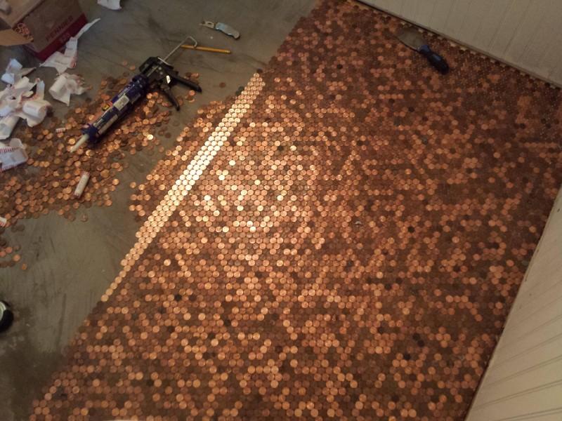 Fußboden Aus Münzen ~ Diy deko für zuhause aus münzen wird ein selbstgemachter fußboden