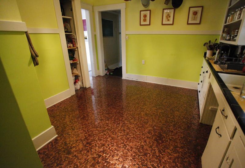 Fußboden Mit Centstücken ~ Diy deko für zuhause aus münzen wird ein selbstgemachter fußboden
