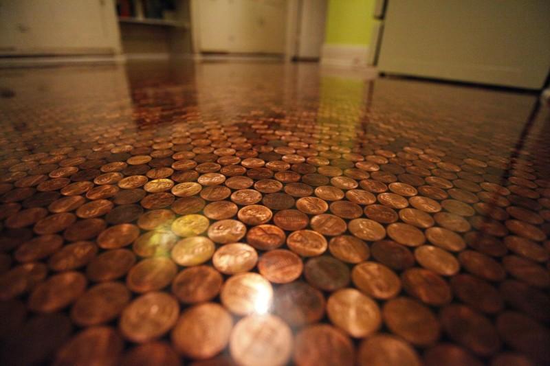 Diy Deko Für Zuhause Aus Münzen Wird Ein Selbstgemachter Fußboden