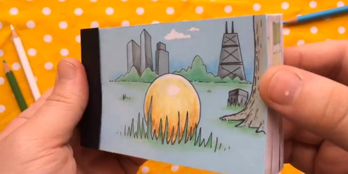 Картинки в блокноте мультик