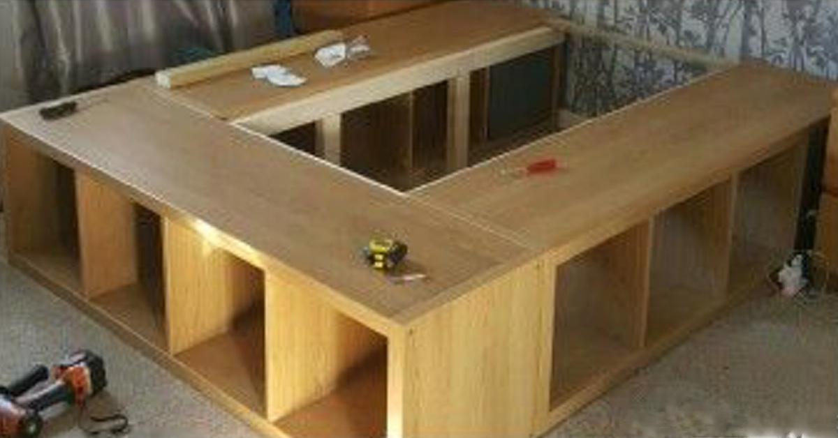 10 angepasste einrichtungen die aus ikea m beln gemacht sind. Black Bedroom Furniture Sets. Home Design Ideas