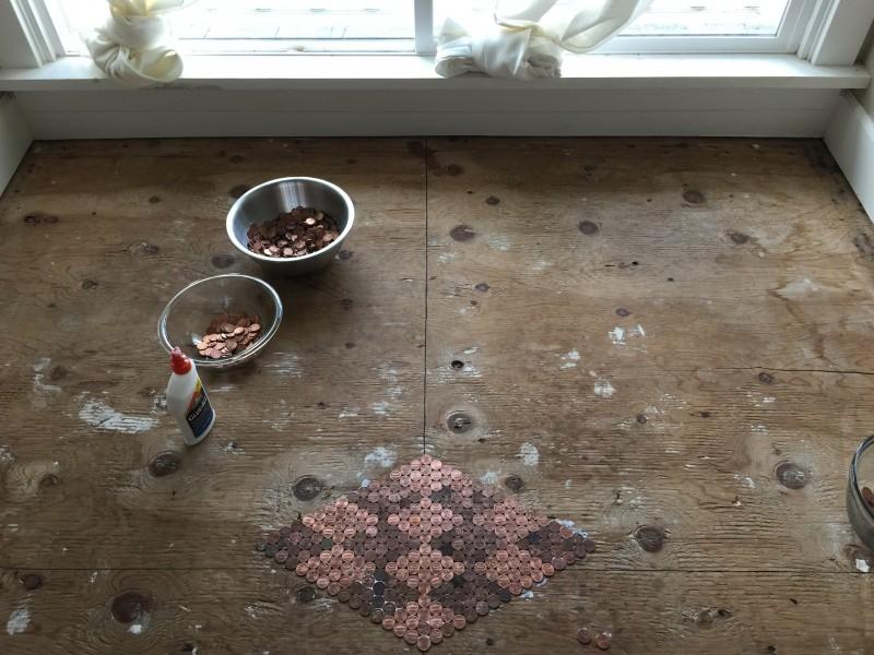 Fußboden Im Eingangsbereich ~ Edler fußboden aus 3 säcken kleingeld.