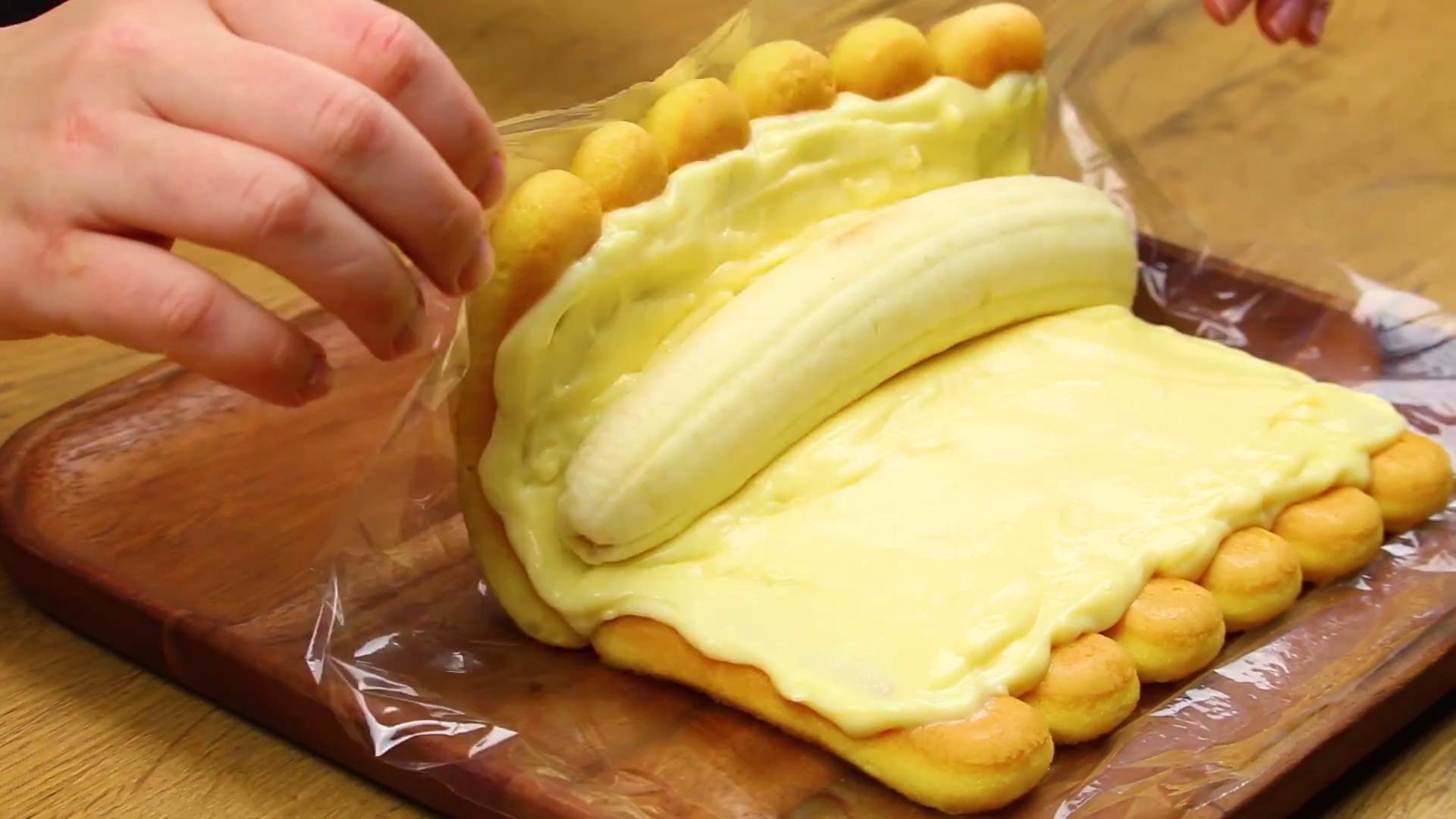 Kein Herz Aus Gold Aber Aus Banane Fluffige Loffelbiskuit Rolle