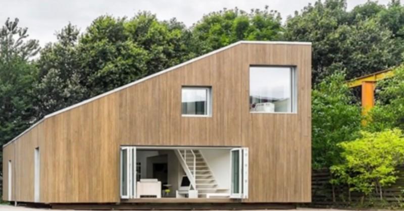 Fleißiger Häuslebauer: Wohnhaus besteht aus 3 recycelten ...