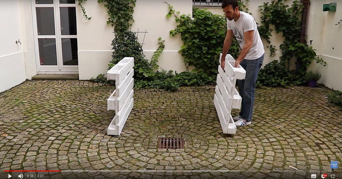 Diy Projekt Fur Den Garten Strandkorb Aus 8 Europaletten Selber