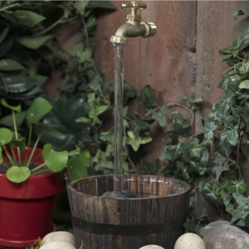Wasserhahn Brunnen.Magie Im Garten Wie Ein Fliegender Wasserhahn Funktioniert