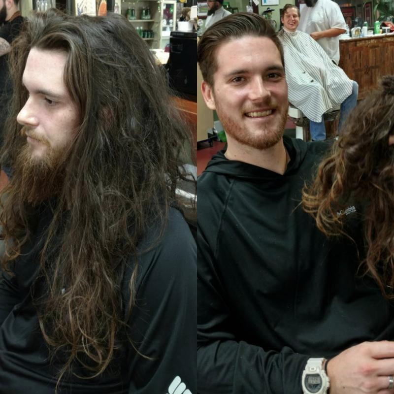 Mann lange haare abschneiden