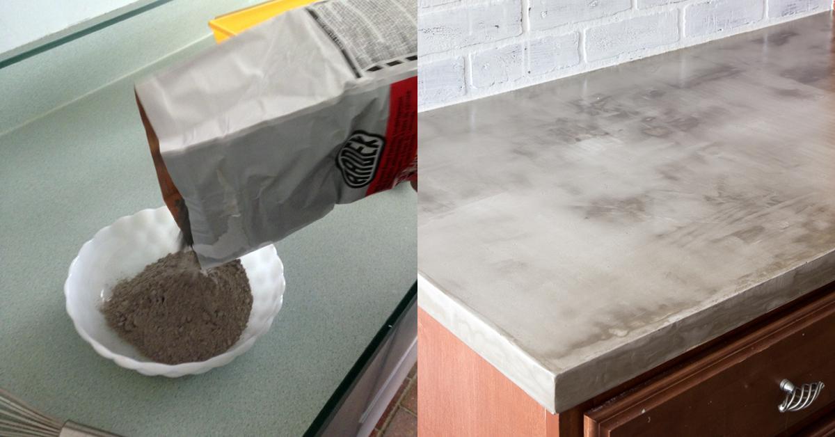 Küche modern einrichten mit Beton.