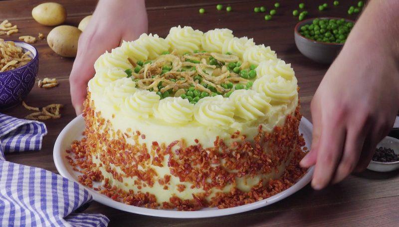 Rezept Das Herzhaft Ist Kuchen Aus Kartoffelpuree Und Hack