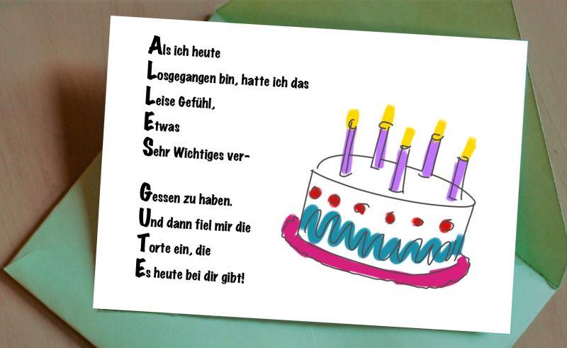 Geburtstagskarte was kann man schreiben